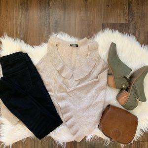 Sweaters - Beautiful 100% cashmere poncho cream one size